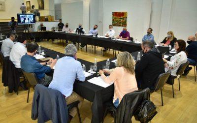 Modificación a la Ley de Coparticipación: el intendente Bono en una reunión en General Pico